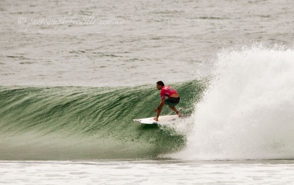 popping out of the tube on jis second high scoring wave of 7.83.