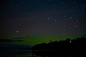 Aurora from Trial bay boat ramp, 28/08/2014