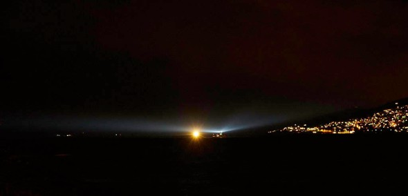 The Night Ship coming up the Derwent.  Pity about the other boat!  It also has a low, mournful horn blasting at intervals