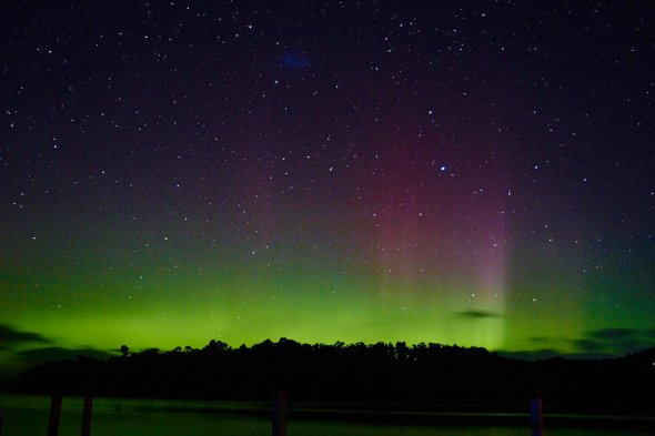 Aurora Australia from Trial Bay, Tasmania, 19 March 2015
