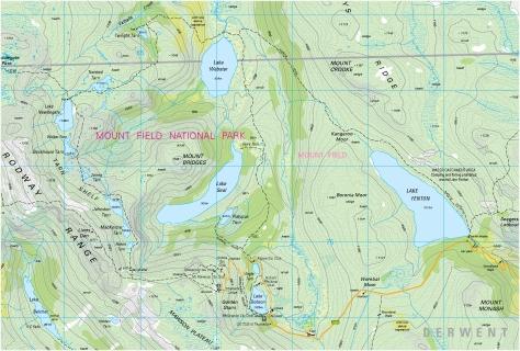 donson topo map area